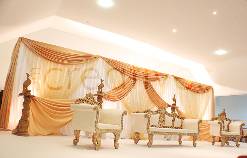 Peter trott om creatives for Asian wedding stage decoration manchester