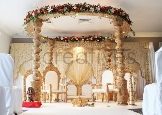 Category om creatives in london for Artificial flower decoration mandap