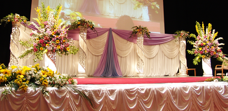 Category om creatives in london for Asian wedding stage decoration london