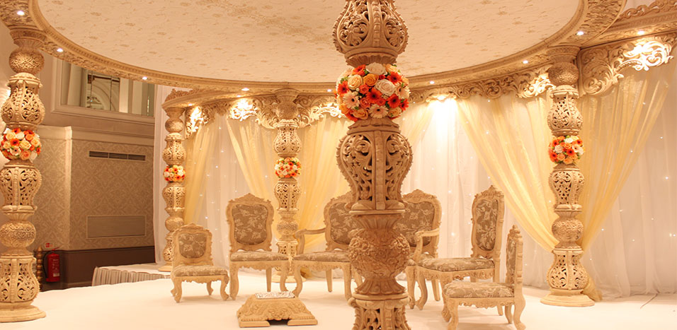 Asian wedding stages decorations in London